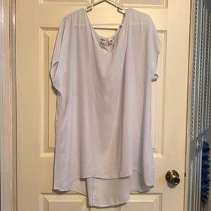 White sheer tunic top